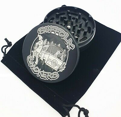 Custom Engraved 75mm 4 Part Herb Tobacco Grinder -With Your Logo image Or text