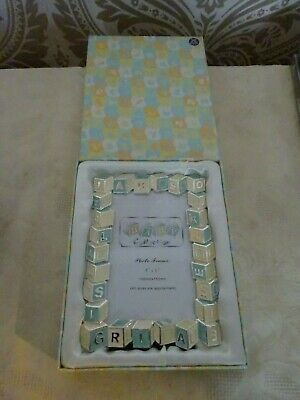 Shudehill Boxed New Baby Collection Enamel Photo Frame 4 x 6