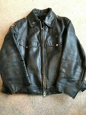 NYPD Black Leather Jacket Size XL