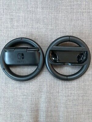 2 x GENUINE OFFICIAL NINTENDO SWITCH MARIO KART JOY-CON STEERING WHEELS