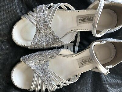 Girls freed Silver Ballroom Shoes Size 5