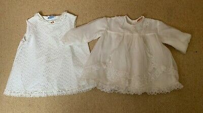 Vintage baby girl's dresses  M & S and Cuddly 12 months