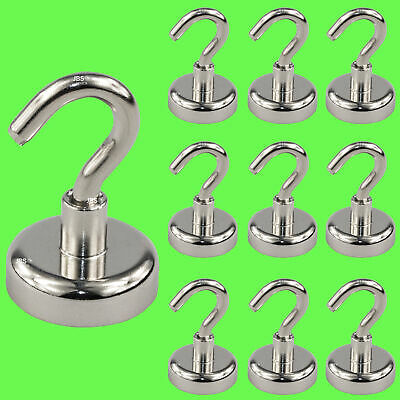 (10 Pcs) Magnetic Hook Neodymium Ø 36 mm Pot Magnet/Strong Holding Strength