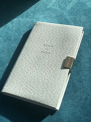 Smythson Leather Boxed notebook With Silver Clasp Engraved With Born To Shop