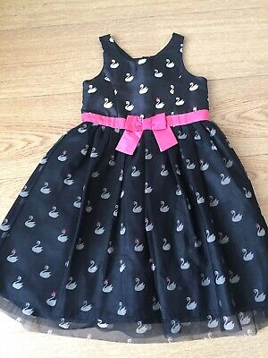 H&M Girls Special Occasion Party Black Dress, Christmas Dress 5-6 Age Years