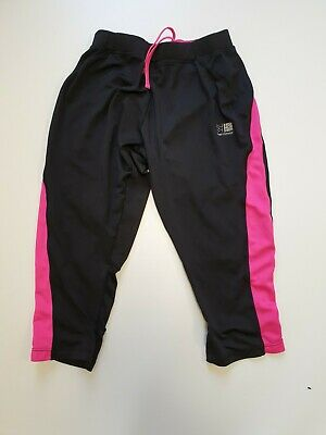 Ff586 Womens Karrimor Run Black Pink Elastane 3/4 Running Sport Shorts Uk 10 W28