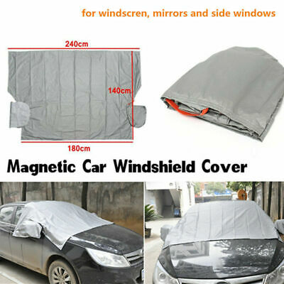 Magnetic Car Truck SUV Windshield Snow Cover Sun Shade Ice Dust Frost Guard