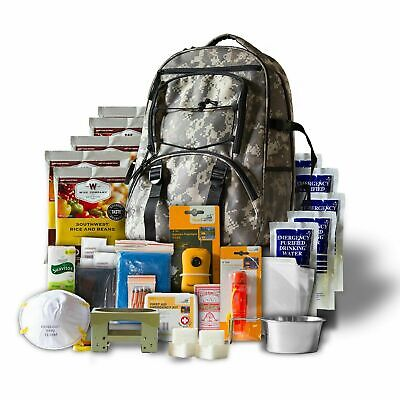 120 Hour 1 Person Emergency Survival Bug Out Bag Camping Kit Backpack New