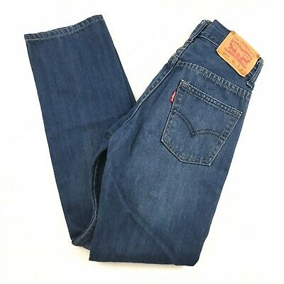 Levis 511 Boys 10 Regular Slim Fit Stretch Jeans Adjustable Waist Blue Wash