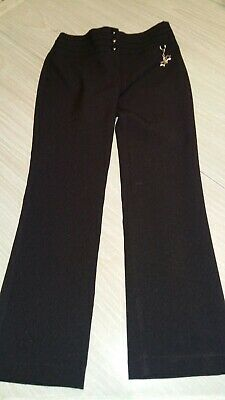 Girls.. Black Trousers.. Age 8 - 9 Years.  F&F..Adjustable waist