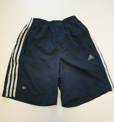Ff612 Boys Adidas Climacool Blue White Striped Sport Shorts Age 15-16 Years
