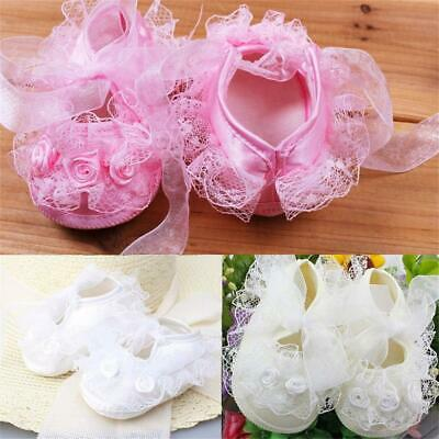Girls Newborn Infant Infant Toddler Frilly Flower Lace Baby Shoes Non-Slip