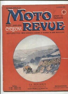 Moto Revue N°140 janvier 1924 : cyclecar Micron / les 4 cylindres