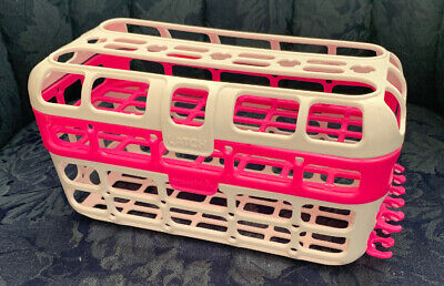 Munchkin High Capacity Dishwasher Basket, PINK..Baby Bottle Basket