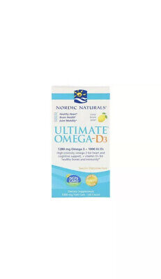 Nordic Naturals Ultimate Omega-D3 Lemon 60 Softgels exp 11/2021+