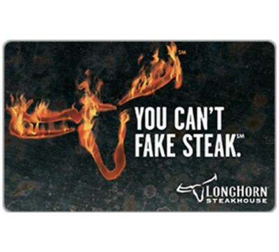 $25 Longhorn Steakhouse Gift Card FREE SHIPPING