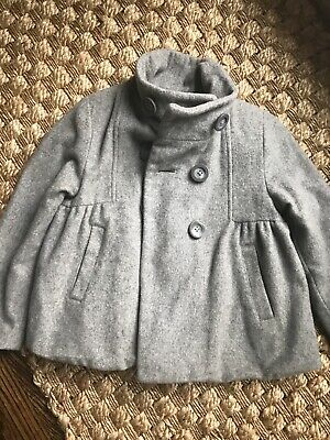 Zara Kids Girls Wool Gray Winter Jacket Coat 4-5