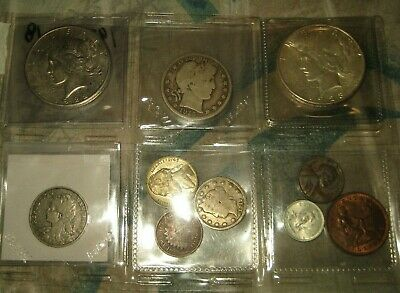 (2) Two Peace Silver Dollars  +  More  Coin  Lot # 3