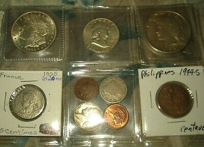 (2) SILVER DOLLARS Morgan + Peace +  More   COIN  LOT # 4