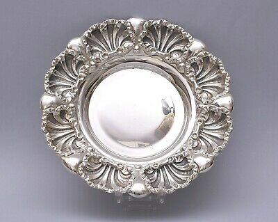 Beautiful Solid Silver Repousse Plate