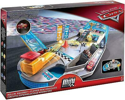 Disney Pixar Cars Mini Racers Rollin' Raceway Playset Track & Speed Launcher