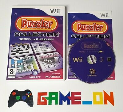 Nintendo Wii Puzzler Collection 1000's of Puzzles! Game Complete ~ FREE P+P