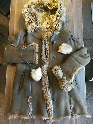 Contessa / Made In Poland / Stunning Hooded Shearling / 100% Sheep / Rrp £790