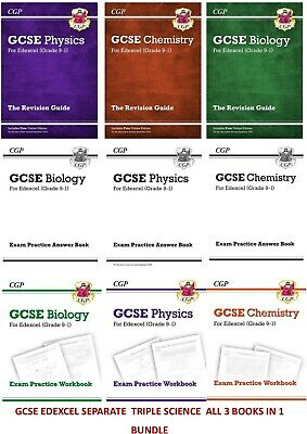 Gcse Edexcel Physics Chemistry Biology Revision Practice Books Separate Science