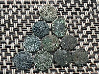 Lot Of 10 Ancient Roman Imperial Bronze Coins
