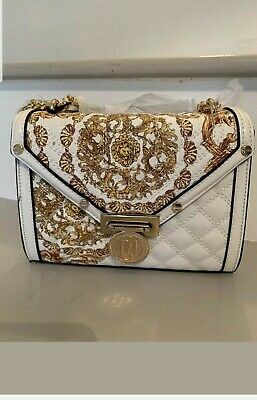 River Island White Baroque Detail Quilted Cross Body Bag BRAND NEW With Tags