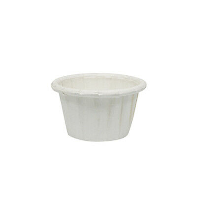 100x Pleated Paper Sauce Cup 15ml 0.5oz Disposable Sauces Take Away Cups