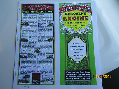 1931 John Deere 1 1/2 to 6 HP Kero Engine Information booklet