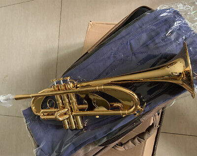 Heavy Professional Gold Plated Trumpet Bb Horn With Case