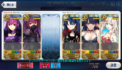 [JP] Fate Grand Order FGO Skadi Space Ishtar Scathach starter account
