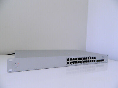 Cisco Switch PoE 24 Gb Ports + 4 SFPs; Meraki, Unclaimed, Cloud Managed