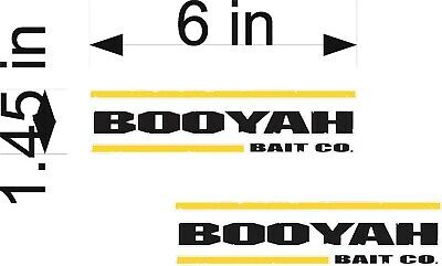 "6/"" PAIR Vinyl Vehicle Graphic Decals ZOOM Fishing Logo Boat Tackle Gear"
