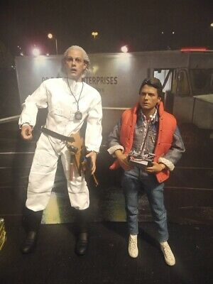 1/6 scale remote control Doc Brown Custom Hot Toys Back Future BTTF Marty
