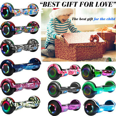 "6.5/8.5"" Bluetooth Hoverboard Self Balancing Scooter LED Bag Dual 300W Chrismas"