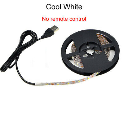 1m Cool White USB Led Strip Light Lamp DC 5V Ruban 60LEDs SMD 5050 TV Backlight