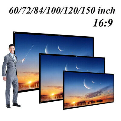 60'' Projector Screen 4K Projection Electric Motorized Manual Pull Down Y2P4