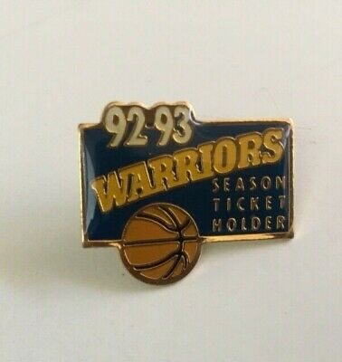Golden State Warriors 1992 - 93 Season Ticket Holder Pin Great Gift