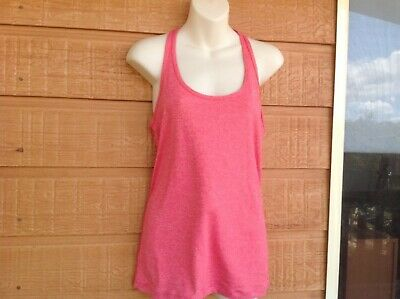LORNA JANE - coral coloured breathable singlet - small