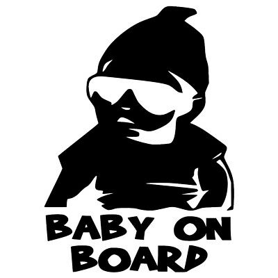 Car Baby Window Vinyl Sticker Decal Sign Cool On Board With Sunglasses Decor CY2