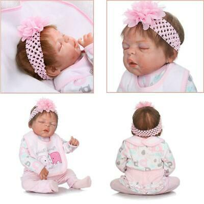 "22"" Full Body Vinyl Silicone Beautiful Reborn Baby Girl Bath Doll REALISTIC BABY"