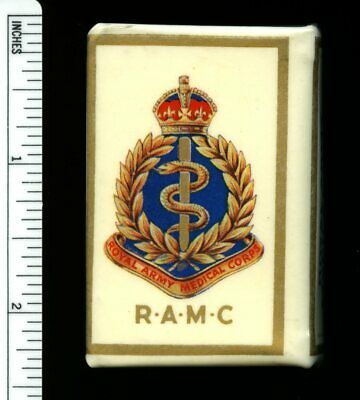 ROYAL ARMY MEDICAL CORPS WW2 CELLULOID MATCH BOX HOLDER VESTA CASE in MINTY COND