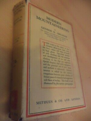 MODERN MOUNTAINEERING old antique book 1930s GUIDE MAPS GEORGE ABRAHAM 1ST EDIT?