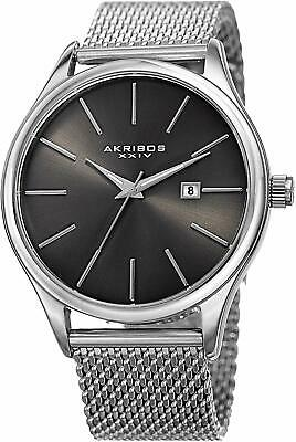 Akribos XXIV AK959 Designer Men's Watch – Classic and Casual Round Stainless Ste