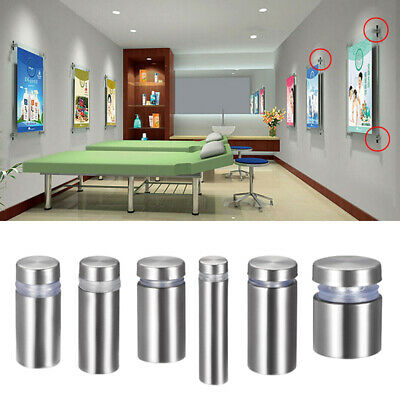 4PCS Stainless Steel Wall Standoff Holder Advertising Nails Glass Standoff Mount