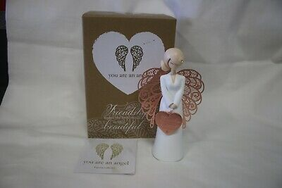 Figurine. You Are An Angel. Friendship Makes The Little Things Beautiful. MIB