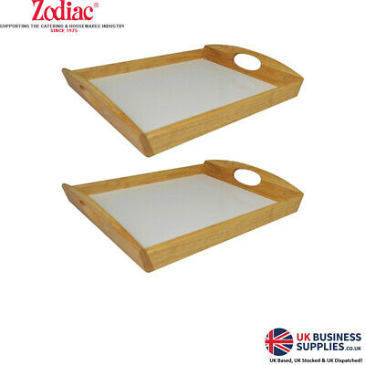 Zodiac Naturals Glossed Wooden Dinner Dining Food Tray 36cm x 25.5cm x 5.5cm